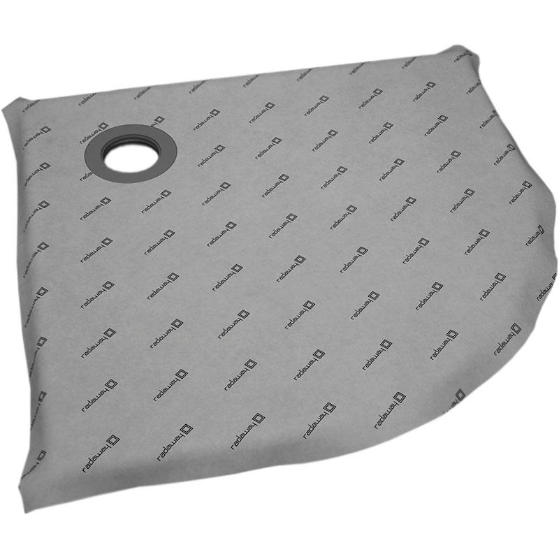 Душевая плита Radaway RadаDrain 79x79 полукруглая с решеткой