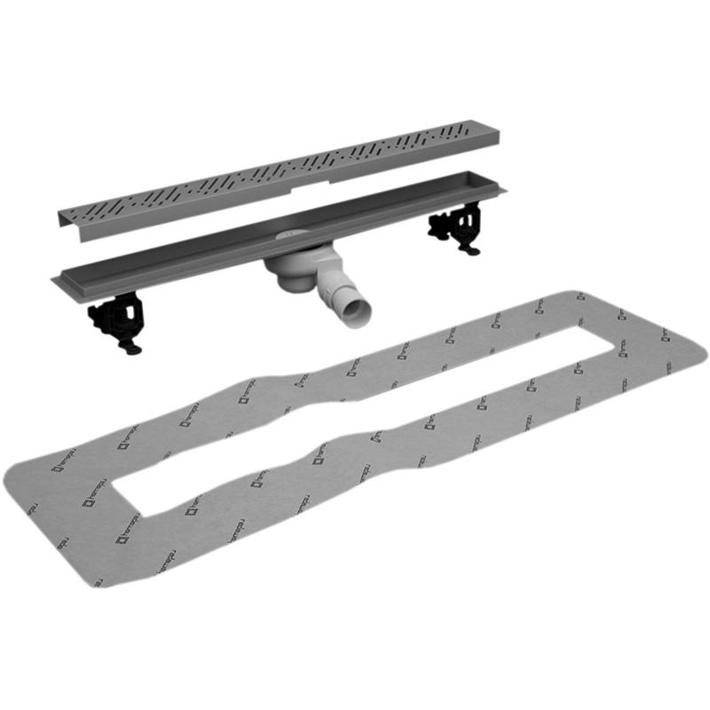Линейный трап для душа Radaway RadаDrain 75 плитки 8-12 мм с решеткой Quadro