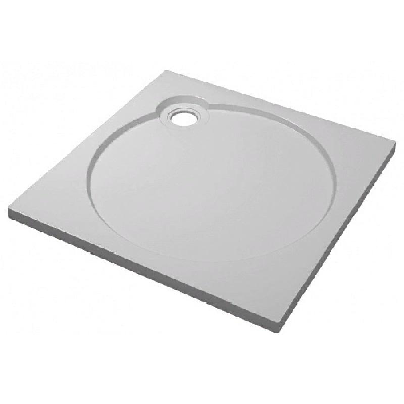 Душевой поддон из искусственного камня Florentina GW-90х90 Белый