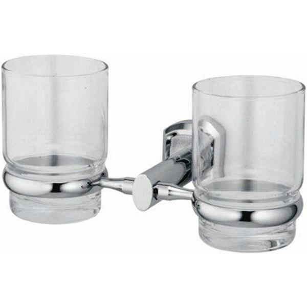 Стакан для зубных щеток WasserKRAFT Oder K-3028D двойной Хром стакан для зубных щеток wasserkraft k 5028white