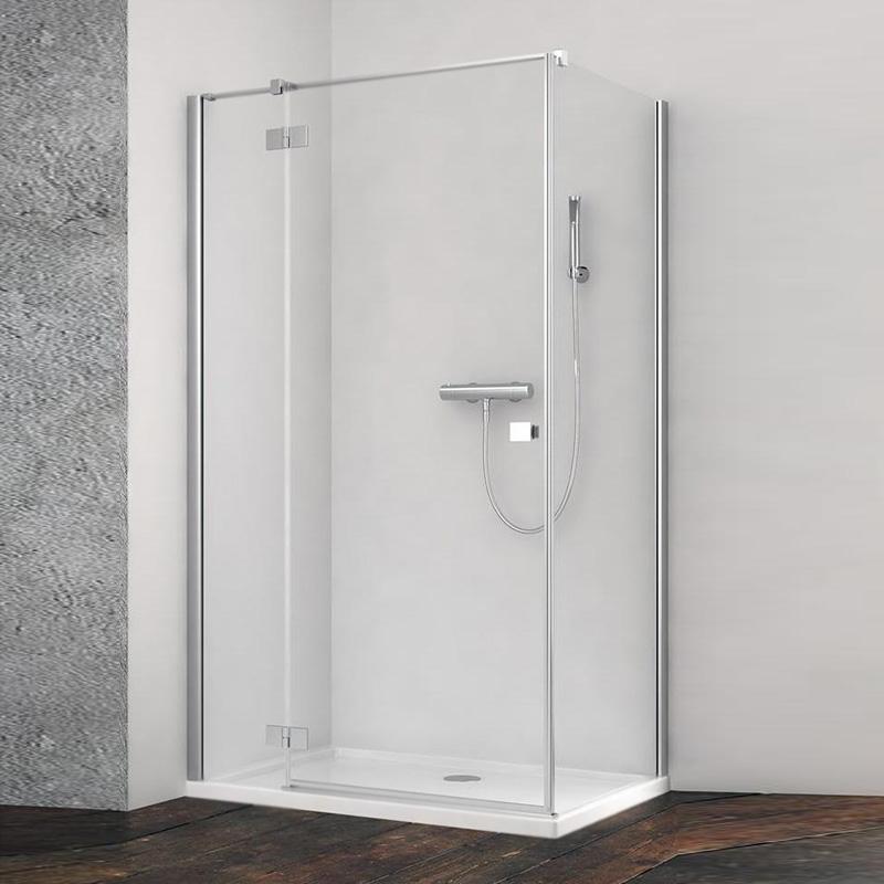 Дверь душевого уголка Radaway Essenza New KDJ 80 R профиль Черный стекло прозрачное дверь душевого уголка radaway essenza new kdj s 80 r профиль черный стекло прозрачное