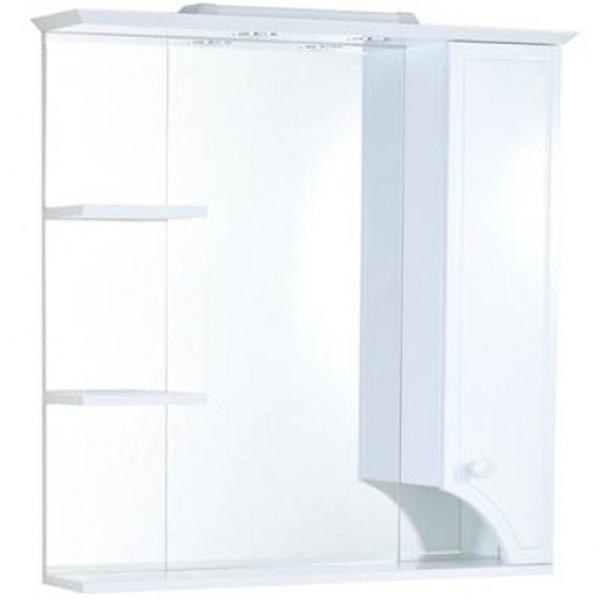 Зеркало со шкафом Акватон Элен 85 с подсветкой 1A218802EN010 Белое