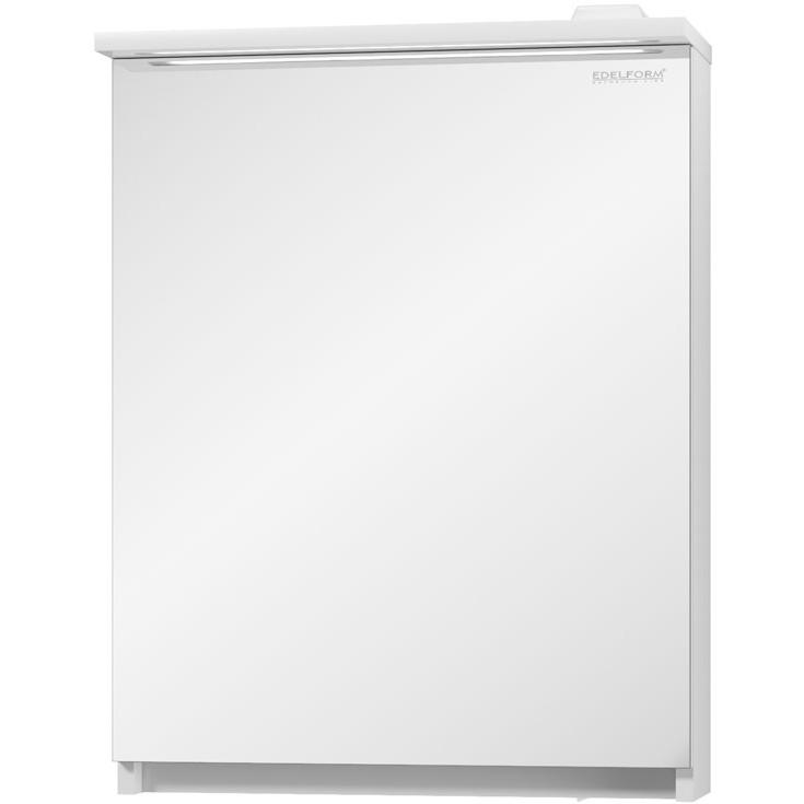 Зеркальный шкаф Edelform Amata 60 с подсветкой Белый глянец зеркальный шкаф edelform carino 100 с подсветкой черный глянец