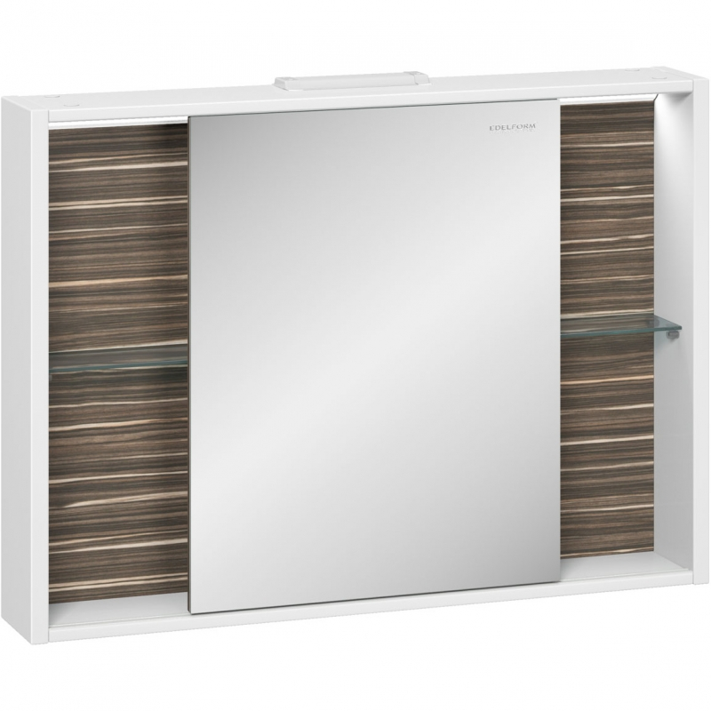 Зеркальный шкаф Edelform Belle 100 с подсветкой Белый глянец зеркальный шкаф edelform carino 100 с подсветкой черный глянец