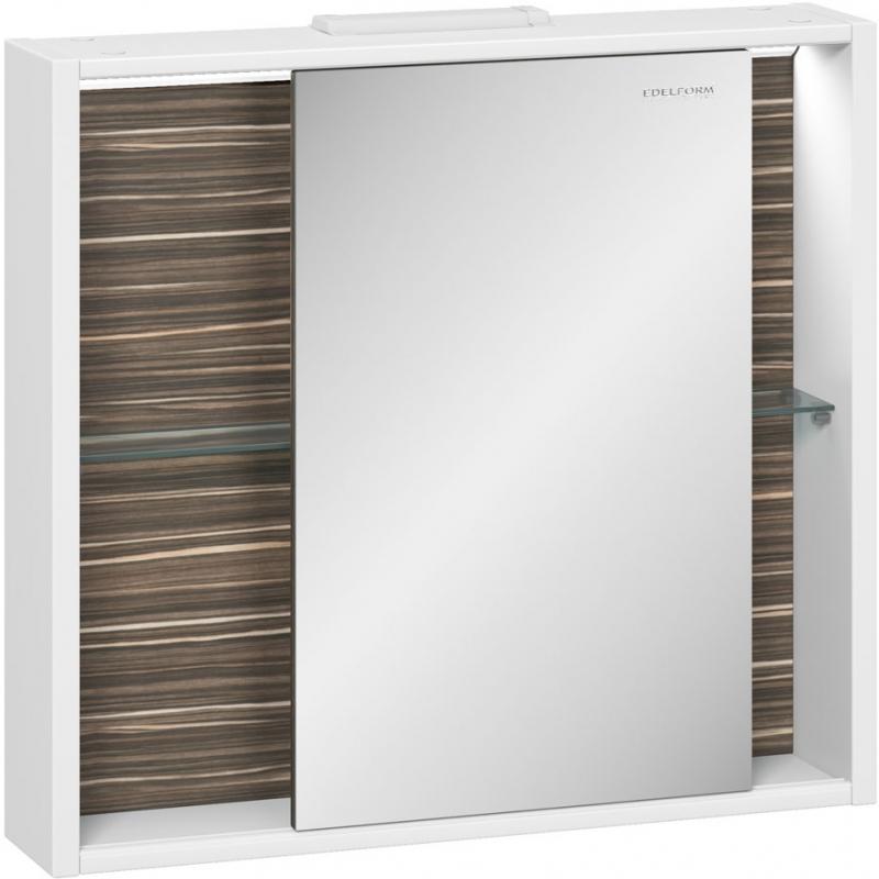 Зеркальный шкаф Edelform Belle 80 с подсветкой Белый глянец зеркальный шкаф edelform belle 80 с подсветкой белый глянец