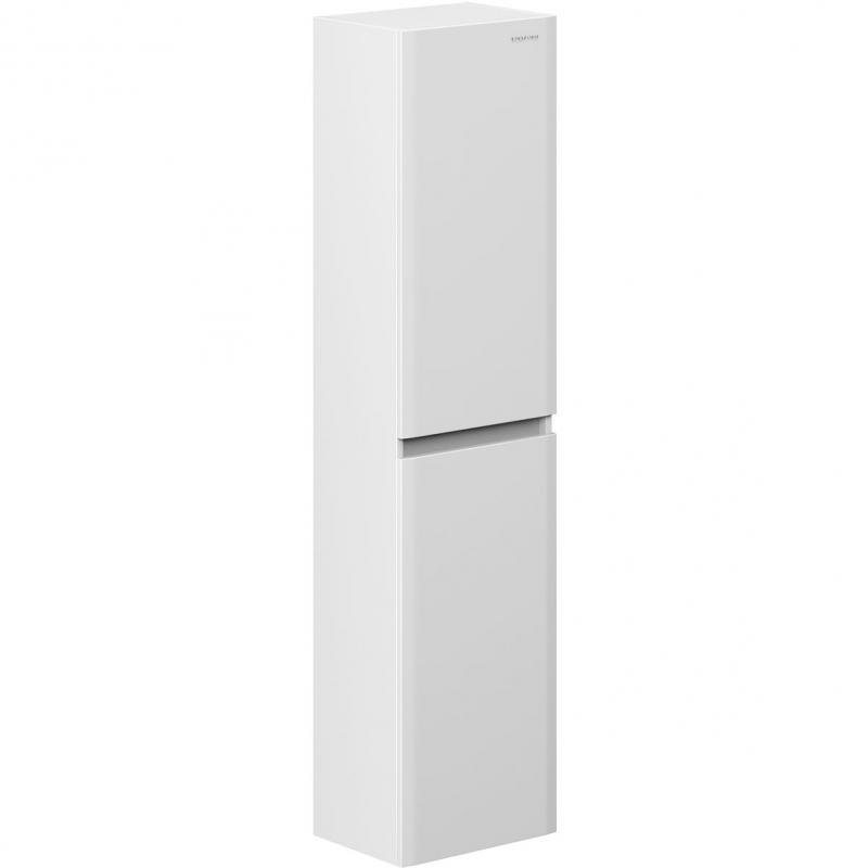 Шкаф пенал Edelform Amata 38 подвесной Белый глянец шкаф пенал bellezza рокко 35 подвесной красный белый