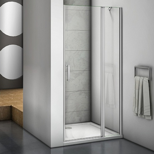 Душевая дверь в нишу Good Door Mokka WTW-110-C-WE 110 профиль Алюминий белый стекло прозрачное