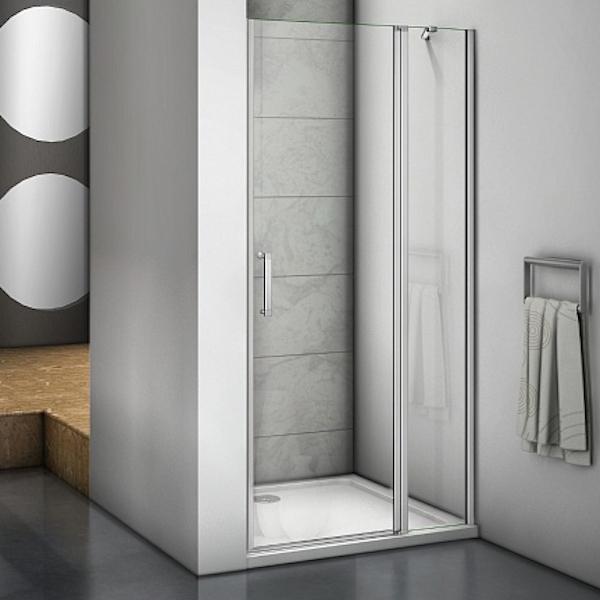 Душевая дверь в нишу Good Door Mokka WTW-130-C-WE 130 профиль Алюминий белый стекло прозрачное