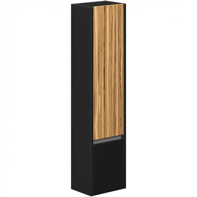 Шкаф пенал Edelform Carino 38 L подвесной Черный глянец Эбони зеркальный шкаф edelform carino 100 с подсветкой черный глянец