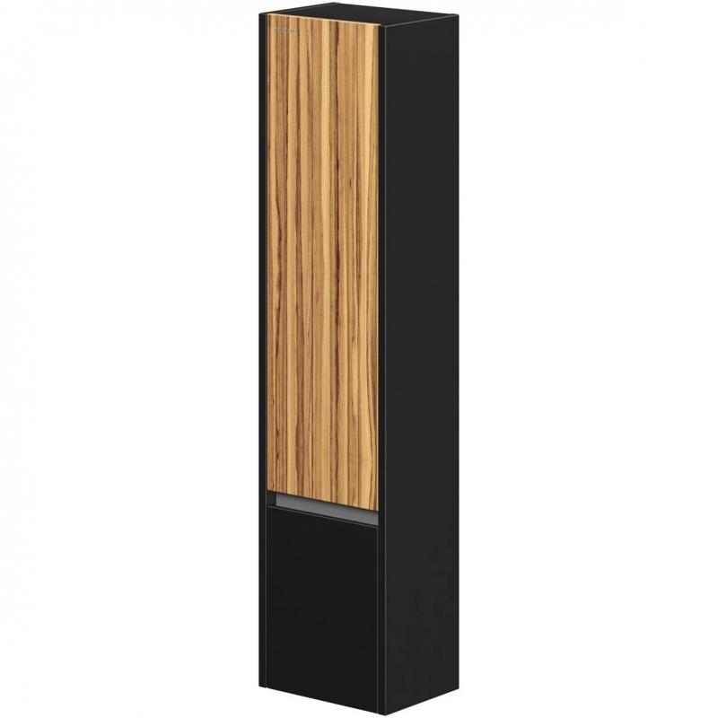 Шкаф пенал Edelform Carino 38 R подвесной Черный глянец Эбони зеркальный шкаф edelform carino 100 с подсветкой черный глянец