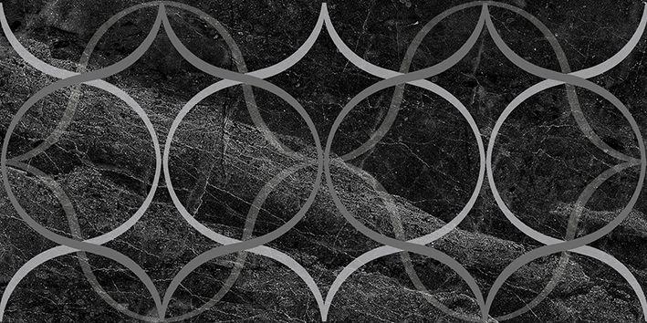 Керамический декор Laparet Crystal Resonanse чёрный 30х60 см керамический декор laparet genesis fractal коричневый 30х60 см