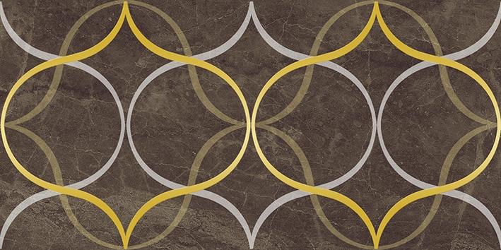 Керамический декор Laparet Crystal Resonanse коричневый 30х60 см керамический декор laparet genesis fractal коричневый 30х60 см