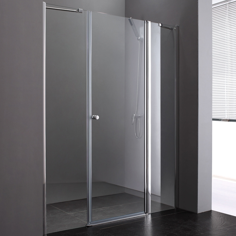 Душевая дверь в нишу Cezares Elena B-13 40+60/60 L профиль Хром стекло рифленое фото