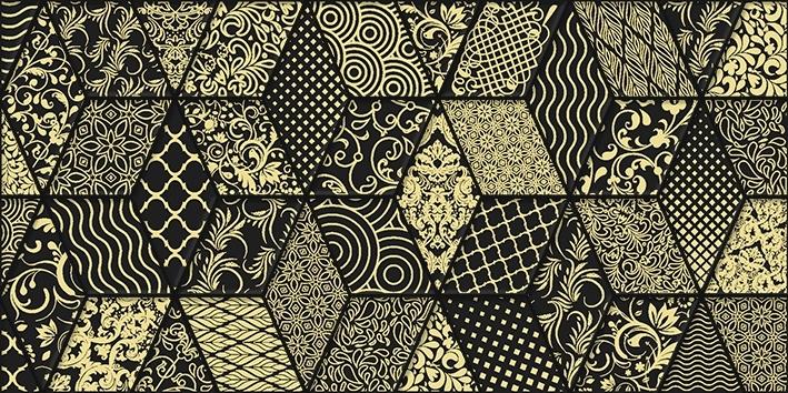 Керамический декор Laparet Tabu Bomond чёрный 30х60 см керамический декор laparet genesis fractal коричневый 30х60 см