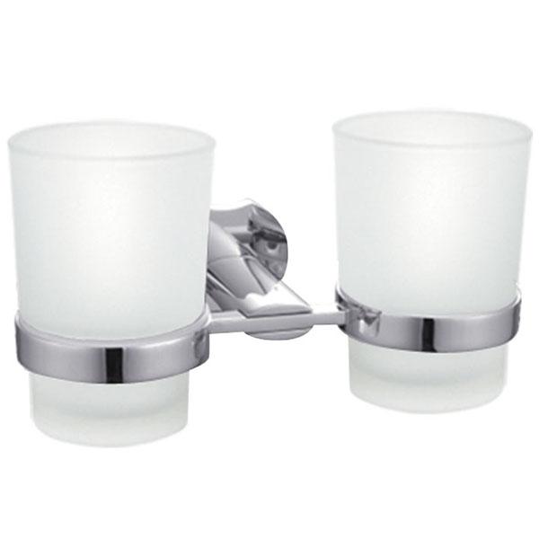 Стакан для зубных щеток Raiber R53903 двойной Хром стакан для зубных щеток raiber r53902 одинарный