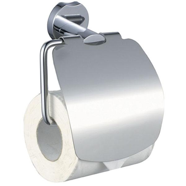Держатель туалетной бумаги Raiber R53907 с крышкой Хром держатель для туалетной бумаги art