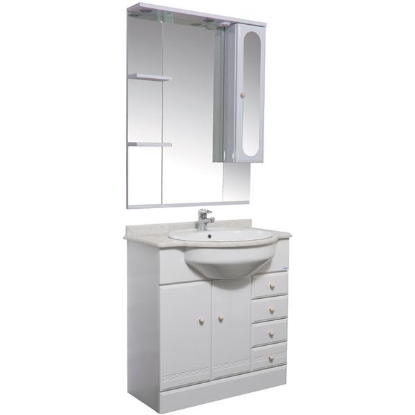 Марсель 80 белыйМебель для ванной<br>Тумба под раковину Акванет Марсель 80, артикул 100299. В комплект поставки входит тумба. Цвет: белый.<br>