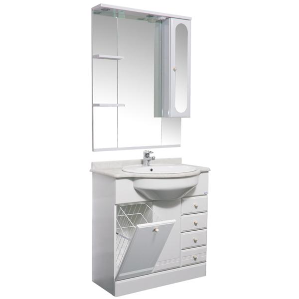 Марсель 80 с б/к белыйМебель для ванной<br>Мебель для ванной Акванет Марсель 80 с б/к, артикул 100300. В стоимость входит тумба. Цвет: белый. Раковина, зеркало, столешница и пенал приобретаются отдельно.<br>