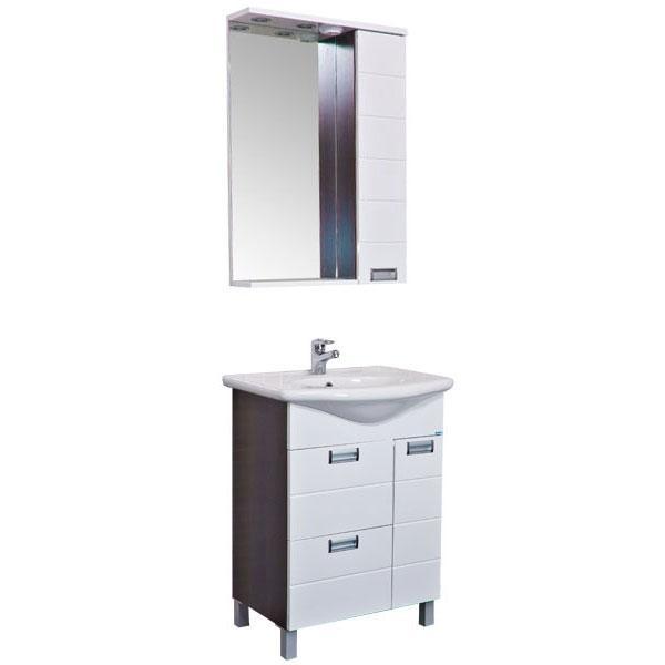 Сити 60 венгеМебель для ванной<br>Мебель для ванной Акванет 172684 Сити 65. В стоимость входит тумба. Цвет: венге. Раковина, зеркало и пенал приобретаются отдельно.<br>