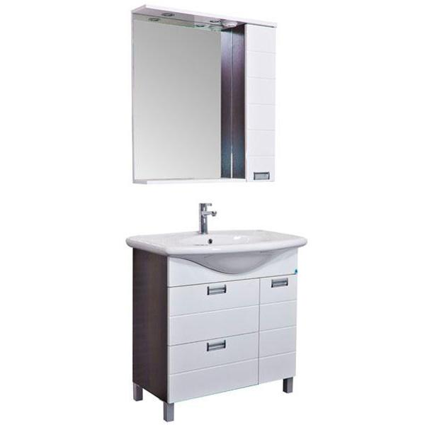 Сити 80 белыйМебель для ванной<br>Мебель для ванной Акванет 173128 Сити 80. В стоимость входит тумба. Цвет: белый. Раковина, зеркало и пенал приобретаются отдельно.<br>