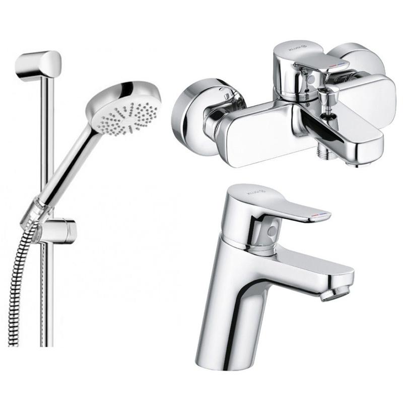 Комплект смесителей Kludi Pure&Easy 370280565+376810565+681600500 - фото