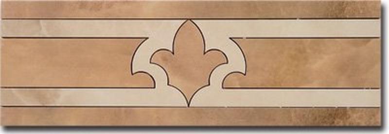 Керамический бордюр Ceracasa Damore Cenefa 3 Honey 12,8х38,8 см