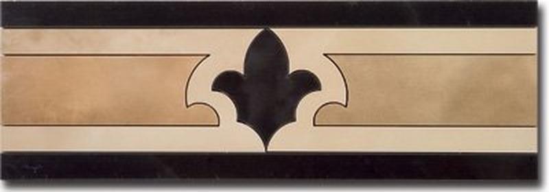 Керамический бордюр Ceracasa Damore Cenefa 1 Dark 12,8х38,8 см керамический бордюр mayolica versailles cenefa 10х28 см