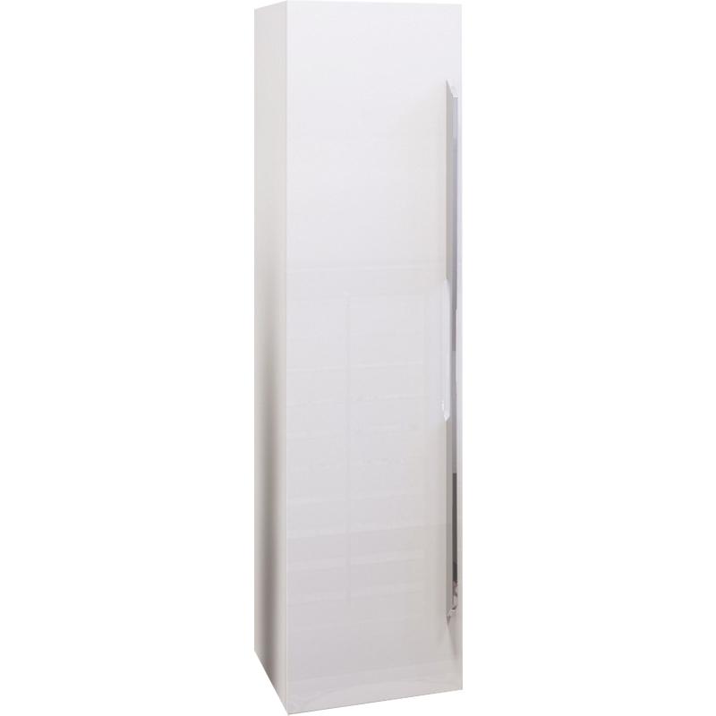 Шкаф пенал Opadiris Октава 30 подвесной L Белый глянцевый шкаф пенал bellezza рокко 35 подвесной красный белый