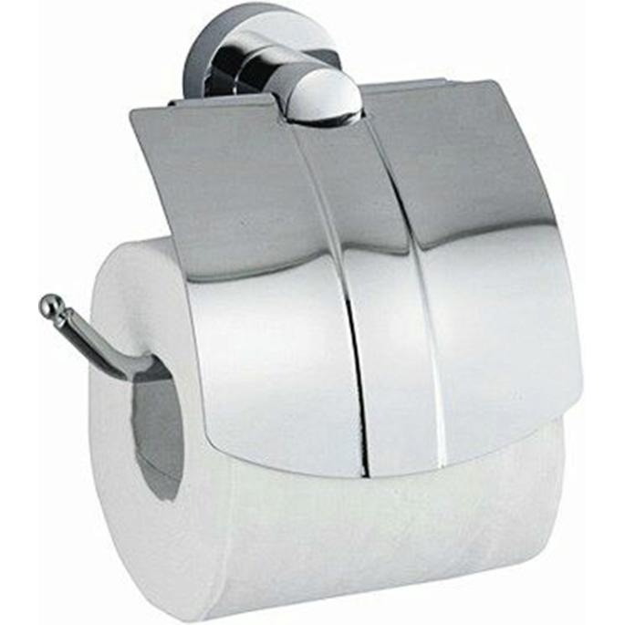 Держатель туалетной бумаги WasserKRAFT Donau K-9425 с крышкой Хром держатель туалетной бумаги wasserkraft isen k 4025 с крышкой хром