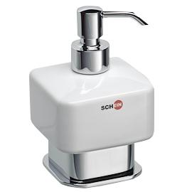 Дозатор для жидкого мыла Schein Allom 222DS-T Хром, Белый дозатор для жидкого мыла schein watteau 122d r хром белый