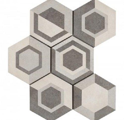 Керамогранит Marazzi Ragno Rewind Decoro Geometrico Vanilla R4DT 21х18,2 см керамогранит marazzi ragno epoca decoro сementine rosa r55u 21х18 2 см