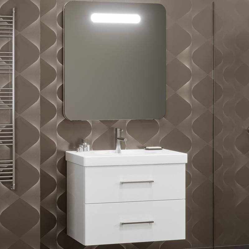 Комплект мебели для ванной Opadiris Арабеско 70 подвесной Белый глянцевый фото