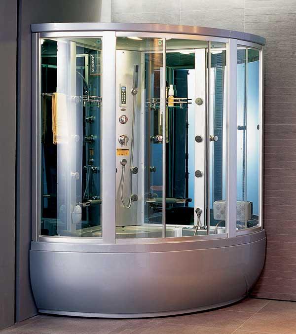 Guci-856 СераяДушевые боксы<br>Душевая кабина Appollo Guci-856 гидромассажная. В комплект входят: турецкая баня, душ, массаж тела, ног, радио, электронная панель управления, подсветка в кабине, подключение к CD, прием телефонных звонков, озонирование, гидромассаж в ванной. Все остальное приобретается дополнительно. Цвет серый.<br>