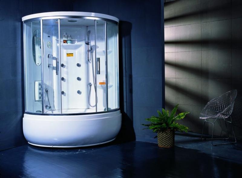 TS-1235W с гидромассажемДушевые кабины<br>Душевая кабина Appollo TS-1235W гидромассажная, без пара. В комплект входят: массаж  ног, вентиляция, радио, верхний свет,ванна без гидромассажа, закалённые стекла 6мм,верхний душ, 2 подголовника в ванной,смеситель, 2 раздвижные двери,эл.панель управления, дисплей,душевая лейка на стойке,сиденье,высокий поддон,зеркало, полочки,смеситель. Все остальное приобретается дополнительно. Цвет белый.<br>