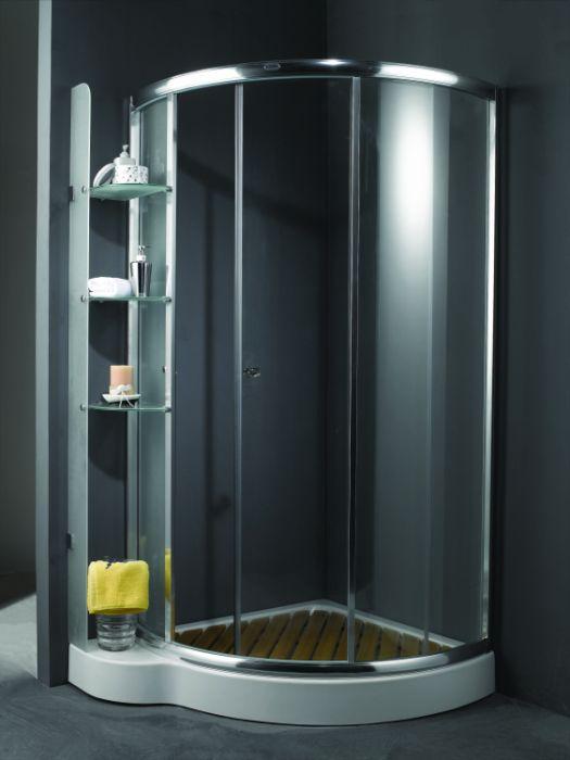 TS-685 Профиль хромированныйДушевые ограждения<br>Душевой уголок Appollo TS-685. В комплект входят: закаленные прозрачные стекла, толщиной 6 мм, полированный алюминиевый профиль, раздвижная входная дверь, раздвижная малая дверь для осуществления доступа к полочкам изнутри кабины, три стеклянных матовых полочки толщиной 8 мм, без задних стенок, хромированная удобная ручка, низкий акриловый поддон, сифон. Профиль хромированный. Дополнительно можете приобрести деревянную решетку в поддон.<br>