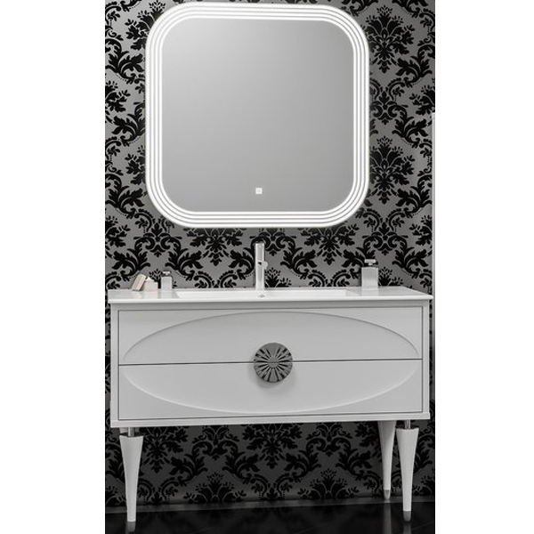 Комплект мебели для ванной Smile Ибица 120 Белый глянцевый Хром мебель для ванной эстет dallas luxe r 120 напольный два ящика белый