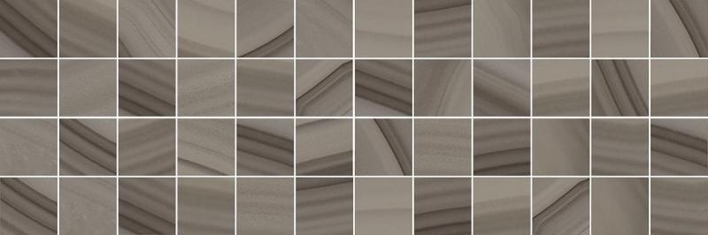 Керамический декор Laparet Agat мозаичный кофейный MM60084 20х60 см керамический декор laparet agat geo серый 20х60 см