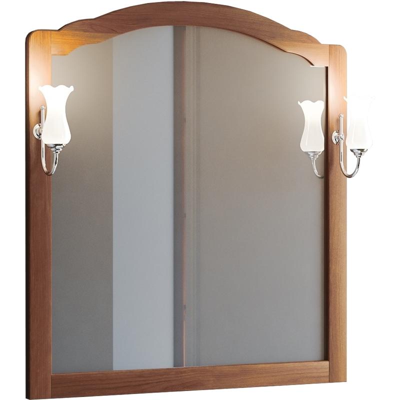 Зеркало Smile Империал 80 Светлый орех зеркало интерьерное дом корлеоне зеркало настенное мозаика 80 х 80 см