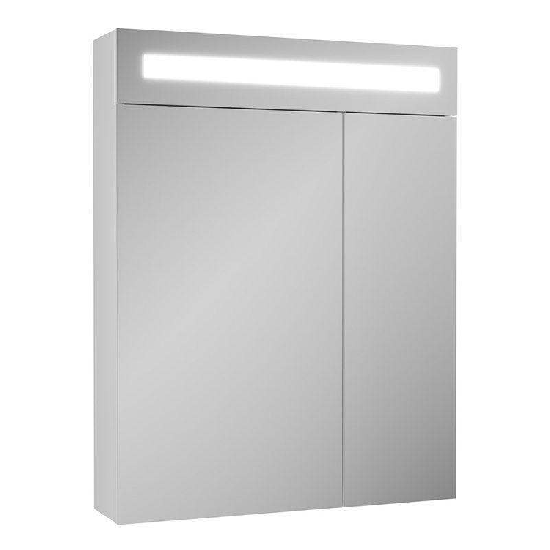 Зеркальный шкаф Owl 1975 Nyborg 60 OW06.05.00 с подсветкой Белый зеркальный шкаф bellezza миа 85 с подсветкой l белый