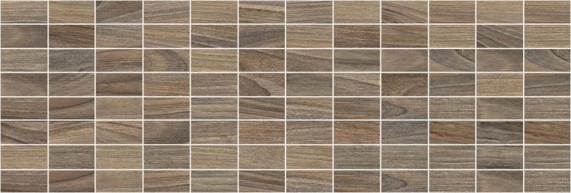 цена Керамический декор Laparet Zen мозаичный коричневый MM60066 20х60 см онлайн в 2017 году