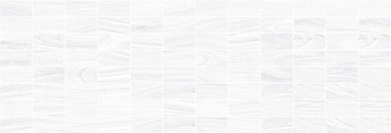 цена Керамический декор Laparet Zen мозаичный белый MM60070 20х60 см онлайн в 2017 году