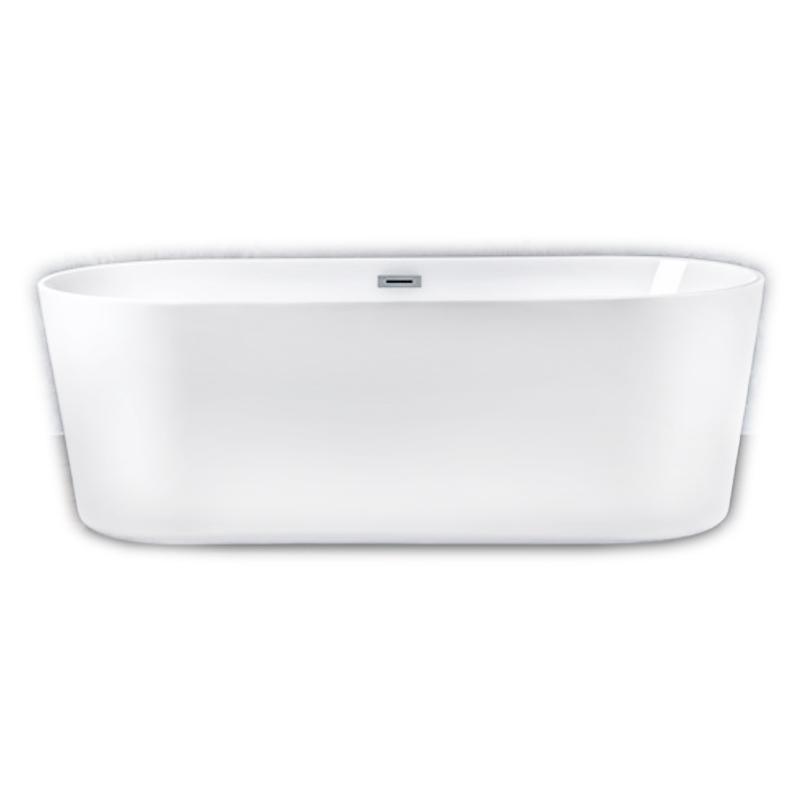 Акриловая ванна NT Bathroom NT07 180х80 без гидромассажа ванна из искусственного камня nt bathroom nt206 180х80 без гидромассажа