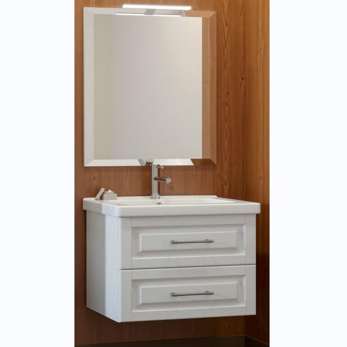 Комплект мебели для ванной Smile Сити 80 подвесной Белый матовый