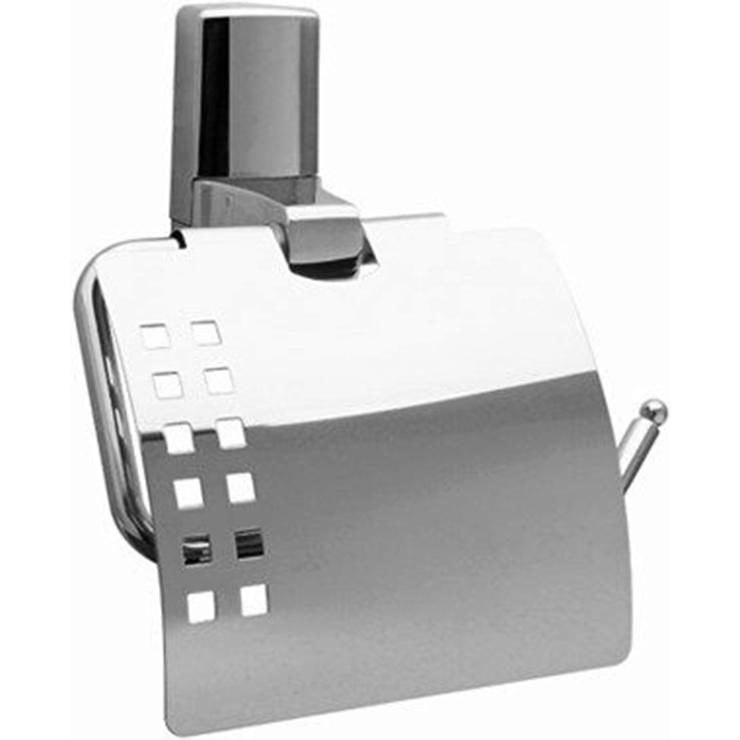 Держатель туалетной бумаги WasserKRAFT Leine K-5025 с крышкой Хром держатель туалетной бумаги wasserkraft isen k 4025 с крышкой хром
