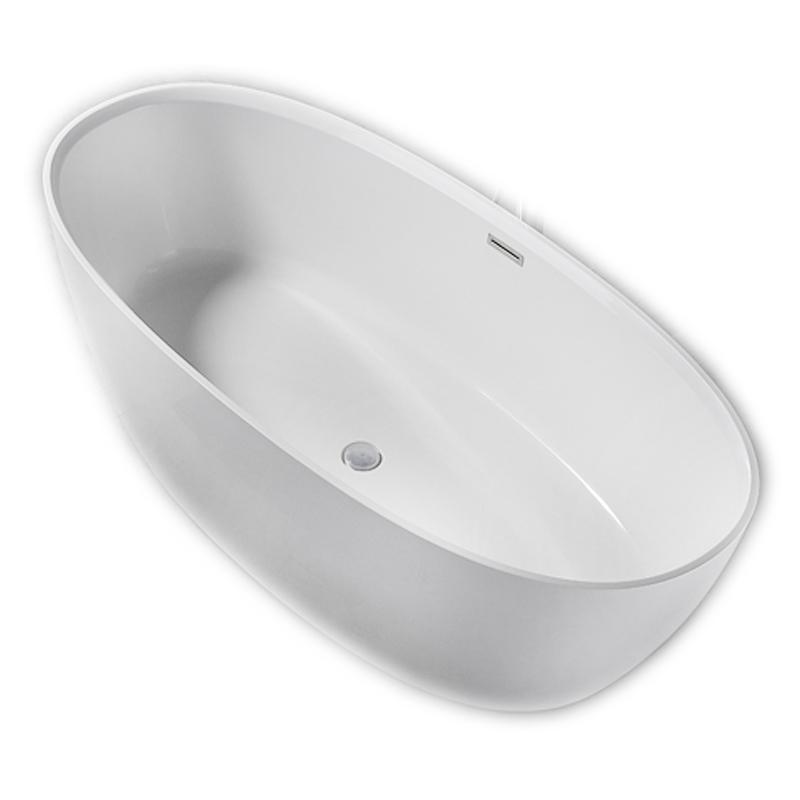 Ванна из искусственного камня NT Bathroom NT203 170х80 без гидромассажа ванна из искусственного камня nt bathroom nt305 165х80 без гидромассажа