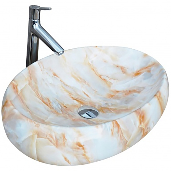 Раковина-чаша CeramaLux 59 166 Белая Оранжевая