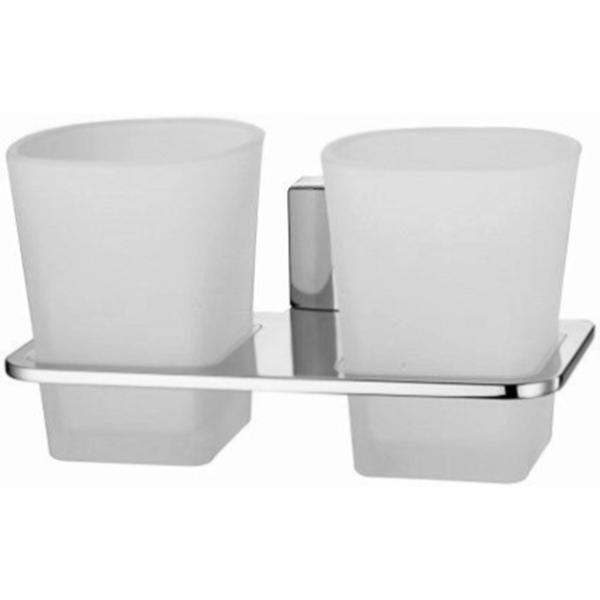 Стакан для зубных щеток WasserKRAFT Leine K-5028D двойной Хром стакан для зубных щеток wasserkraft k 5028white