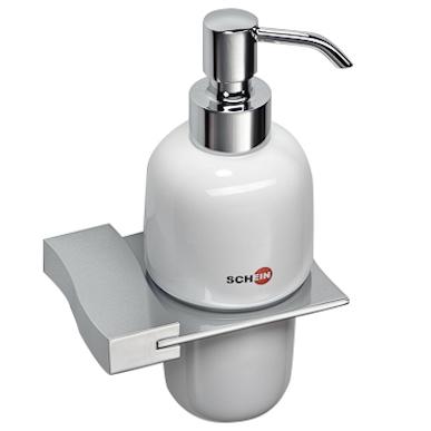 цена Дозатор для жидкого мыла Schein Swing 322D Хром, Белый онлайн в 2017 году