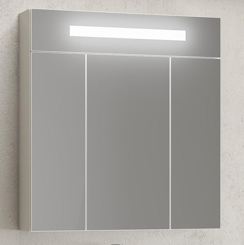 Зеркальный шкаф Opadiris Фреш 80 Z0000010398 с подсветкой Белый зеркальный шкаф vigo kolombo 80 с подсветкой серый