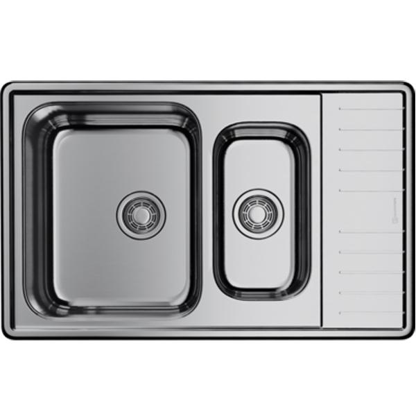 Кухонная мойка Omoikiri Sagami 79-2 оборачиваемая IN Нержавеющая сталь 4993733 кухонная мойка omoikiri sagami 79 2 in нержавеющая сталь 4993733
